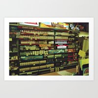 cigarettes Art Prints featuring cigarettes by alannahagerman