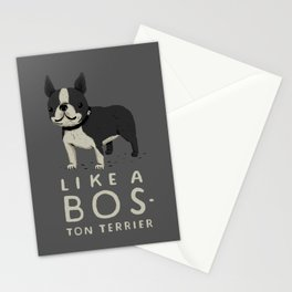 like a bos-ton terrier Stationery Cards