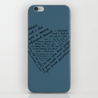 destiel iPhone & iPod Skins featuring Quotes of the Heart - Destiel (Black) by fairy911911