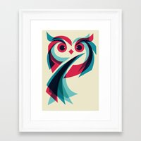 owl Framed Art Prints featuring Owl by Jay Fleck
