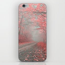Misty Forest Road - Tickle Me Pink iPhone Skin