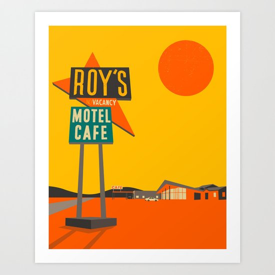 Roys Cafe, Route 66 Art Print