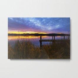 Sunset at Denbigh Pier II Metal Print