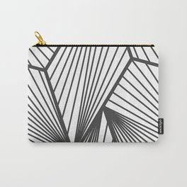 Black & White Urban Industrial Line Geometric Pattern Carry-All Pouch