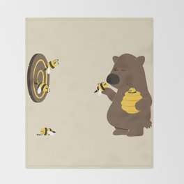 Bee game Throw Blanket