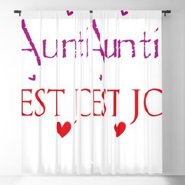 being an auntie is the best job Blackout Curtain