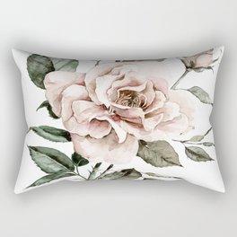 Faded Pink Rose Rectangular Pillow