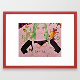 Emerald Beauty Framed Art Print