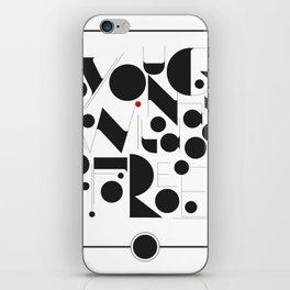 B&W Typography iPhone Skin