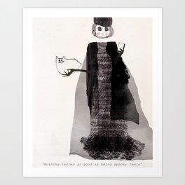 Spooky Skinny Art Print