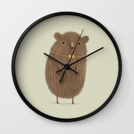Grizzly Made an Effort Wall Clock