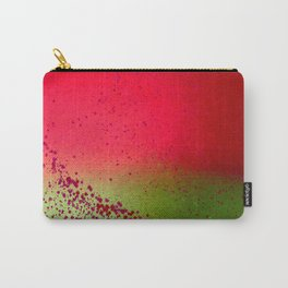 Field of Green with Red Flowers Carry-All Pouch