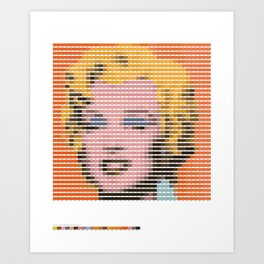 Pantone as pixel Marilyn Art Print