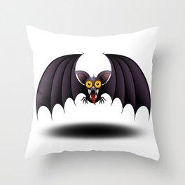 Bat Cartoon Throw Pillow