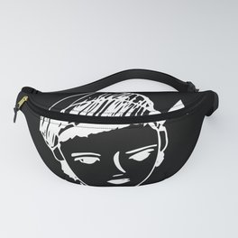 French girl black-white illustration Fanny Pack