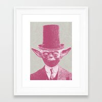 yoda Framed Art Prints featuring Yoda by NJ-Illustrations