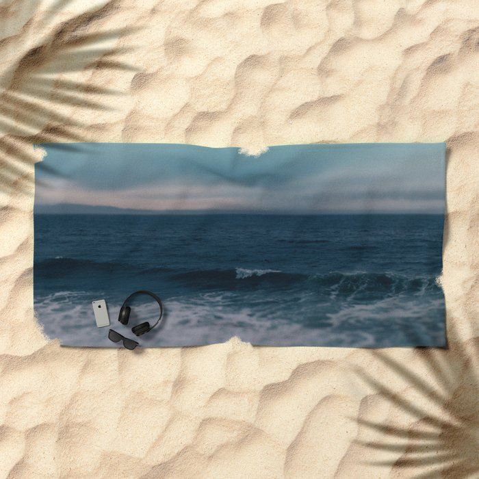 Blue California Ocean Beach Towel