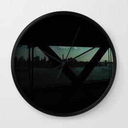 dark bridge nyc Wall Clock