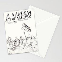 A Random Act of Madness Stationery Cards