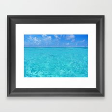 Moorea Water Framed Art Print