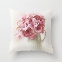 hydrangea Throw Pillows featuring Hydrangea by Ellen van Deelen