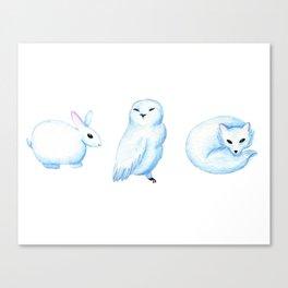 Winter Animals Print Canvas Print