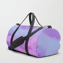 Modern abstract teal magenta violet watercolor pattern Duffle Bag