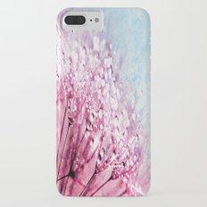 Mauve Lavender Blue Dandelion Dew Flowers iPhone 7 Plus Slim Case