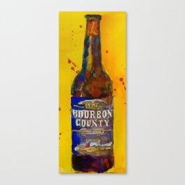 Bourbon County Stout, Goose Island for Beer Art Print from original Watercolor - Man Cave - College Canvas Print