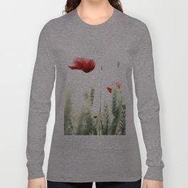 Poppy Poppies Mohn Mohnblume Long Sleeve T-shirt