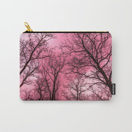 Creepy forest, pink sky Carry-All Pouch