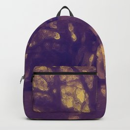 Golden Glow Tree Silhouette at Sunset Backpack