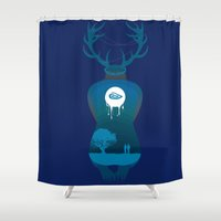 true detective Shower Curtains featuring True Detective by Hyung86
