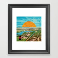 Stream of rainbow Framed Art Print