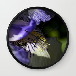 Purple Petals Wall Clock