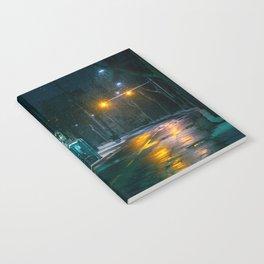 Snowy Seoul Street Notebook