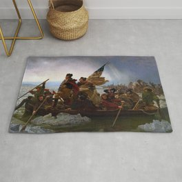 Washington Crossing the Delaware Painting Rug
