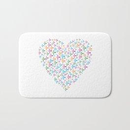 colorful heart of crosses Bath Mat