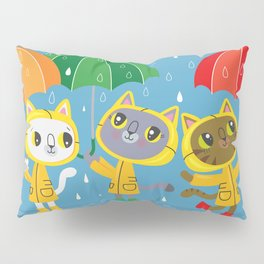 Rainy Day Kitty Cats Pillow Sham