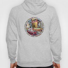 Times Square New York City (badge emblem on white) Hoody
