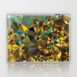 Goldish triangulated abstraction Laptop & iPad Skin