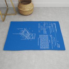 Pinball Machine Patent - Blueprint Rug
