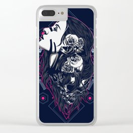 women with tattoo sacred geometry Clear iPhone Case