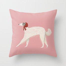 Stylish Borzoi Dog Throw Pillow