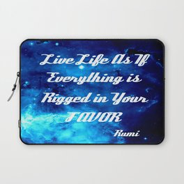 Everything Is Rigged - Rumi Inspirational Quote Laptop Sleeve