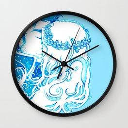 Blue Seas Wall Clock