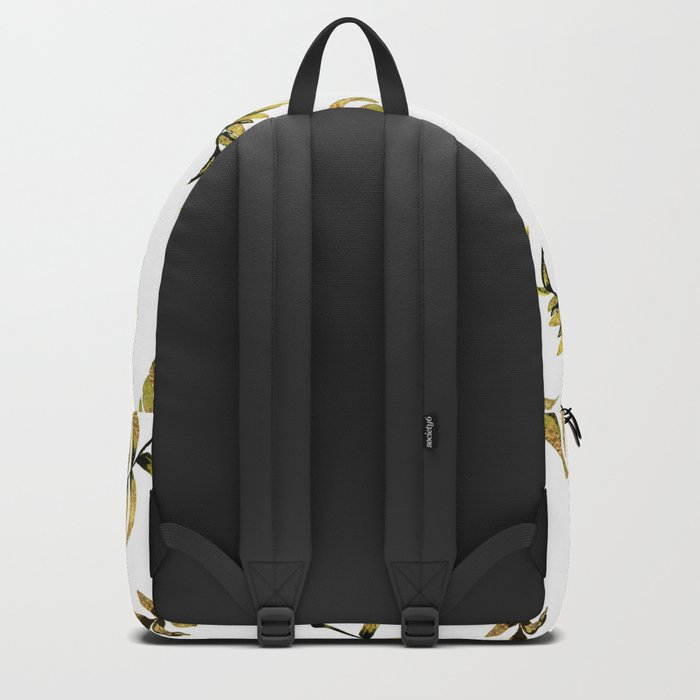 Exotic Gold Palm Leaves Pattern Backpack