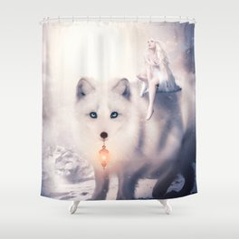 Foxland by lc-korim Shower Curtain