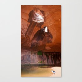 The Golden Cathedral Girl Canvas Print