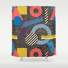 Memphis Inspired Pattern 4 Shower Curtain